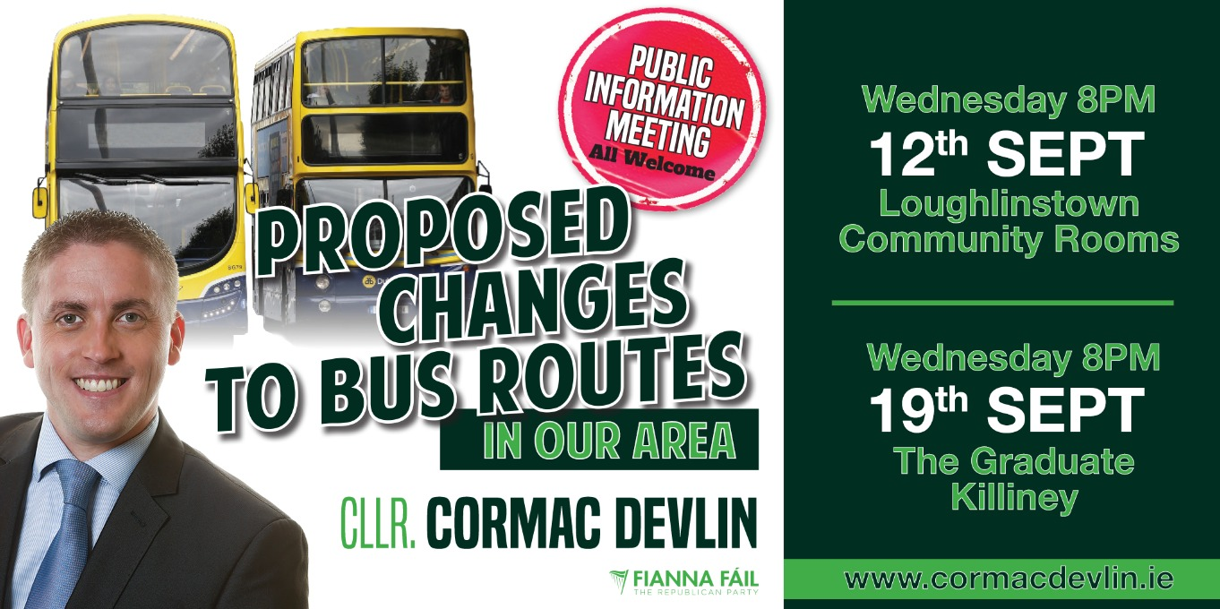Cormac is organising two public meetings about the proposed Bus Connects plan for Dublin. Click here to download his guide