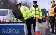 Gardaí at a checkpoint