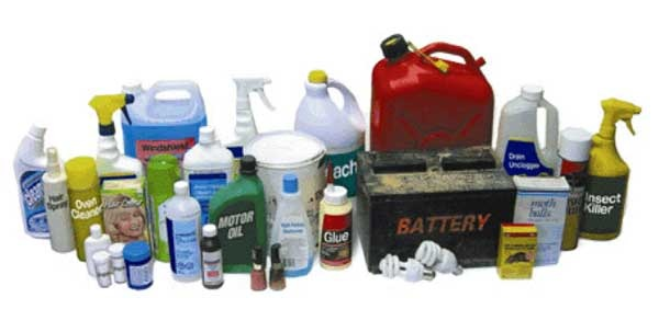 The following items of hazardous household waste will be accepted:Solvent-based Paint and Paint CansGlues and AdhesivesPaint Thinners and StrippersInk CartridgesPesticides, Herbicides, InsecticidesAerosol CansCleaning Agents, Bleaches, DetergentsEngine Oil, Oil Containers and FiltersOld Medicines and Cosmetics.Antifreeze and CoolantsVeterinary Medicines (No Sharps)Fluorescent Tubes and Energy Saving LightbulbsBatteriesWaste Cooking Oil